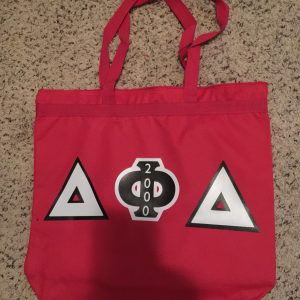 Delta Phi Delta Red Letter Zipper Bag