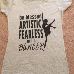 Fearless Dancer glitter black $25