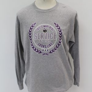 Kappa Lambda Chi Gray Long Sleeve Service Shirt