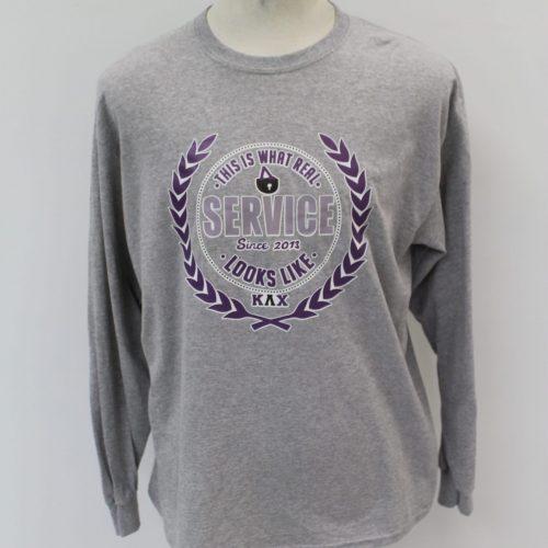 Kappa Lambda Chi Gray Long Sleeve Service Shirt