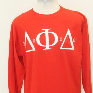 Delta Phi Delta Red Long Sleeve Tee