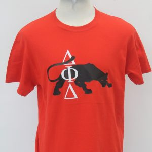 Delta Phi Delta Black Red Panther Tee