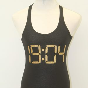 Alpha Kappa Psi black Glitter Number Racer Back Tank