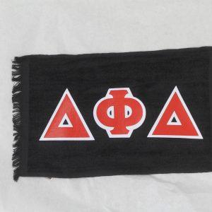 Delta Phi Delta Black Towel