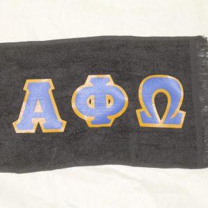 Alpha Phi Omega Black Towel