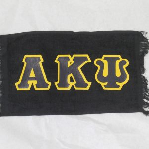 Alpha Kappa Psi Black Towel