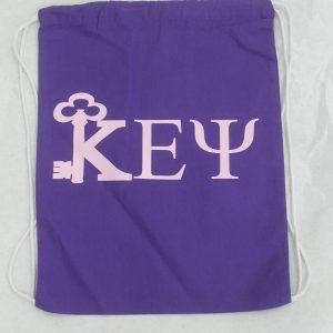 Kappa Epsilon Psi Purple Letter Bag