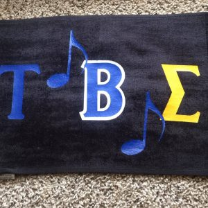 Tau Beta Sigma music towel