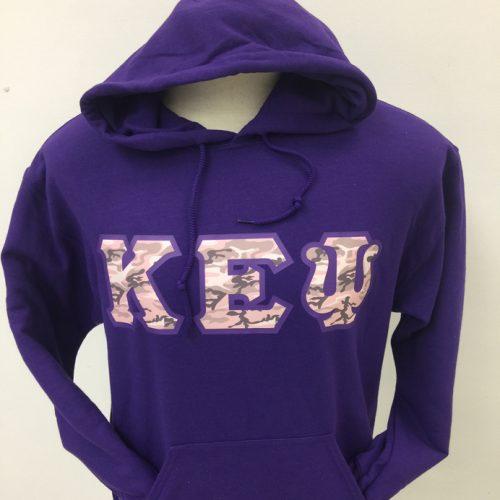 Kappa Epsilon Psi Purple Camo Letters Hoodie