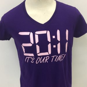 "Kappa Epsilon Psi Purple ""it's our time"" v-neck tee"