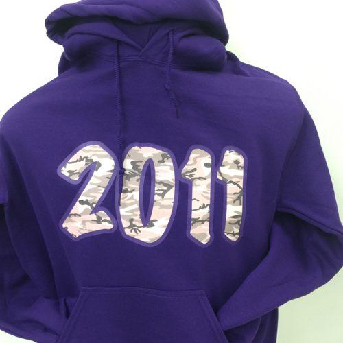 Kappa Epsilon Psi Purple Camo 2011 Hoodie
