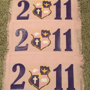 Kappa Epsilon Psi 2011 crest pink towels
