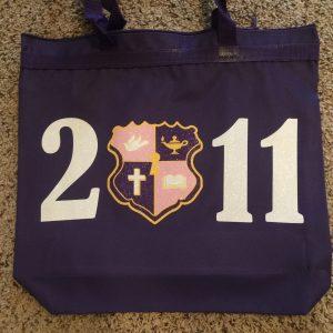 Kappa Epsilon Psi Glitter 2011 crest bags
