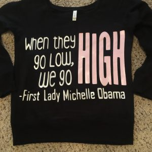 We go HIGH black off the shoulder-sweater $28