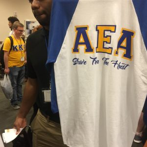 "Kappa Kappa Psi AEA ""Strive For the Highest"" blue/white jersey"