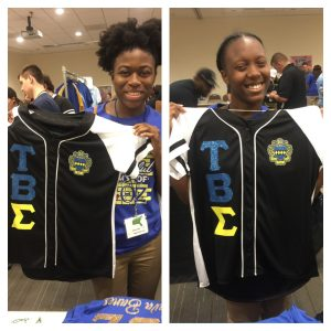 "Tau Beta Sigma ""Glitter up your letters"" Custom glitter flake jersey"