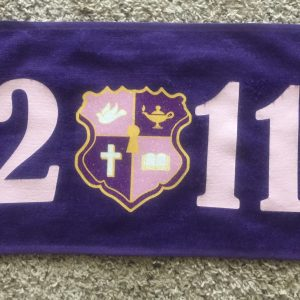 Kappa Epsilon Psi 2011 glitter crest purple towels