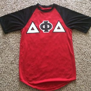 Delta Phi Delta Red/Black baseball jersey