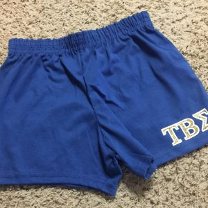 Tau Beta Sigma Blue glitter shorts