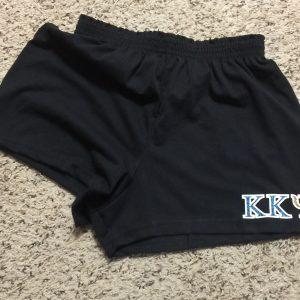 Kappa Kappa Psi black glitter shorts