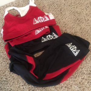 Delta Phi Delta Sports Capri and Sports Top