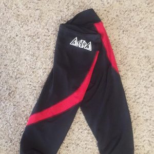 Delta Phi Delta Red and black sports capris