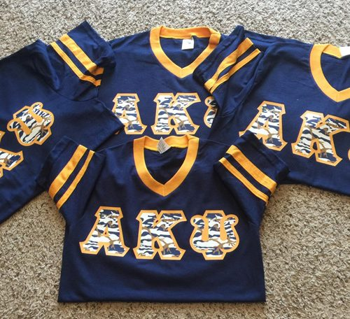 "Alpha Kappa Psi ""Stripe Up Your Camo Letters"" Jersey"