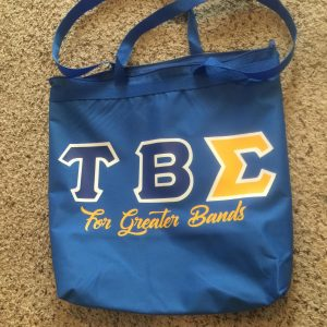 Tau Beta Sigma Blue Zipper Bag