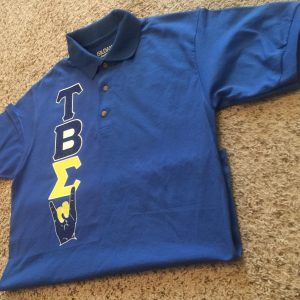 "Tau Beta Sigma ""Hand Sign Glittered Up"" Collar Shirt"