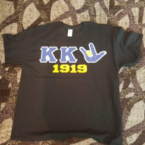 "Kappa Kappa Psi ""hand sign established"" t shirt"
