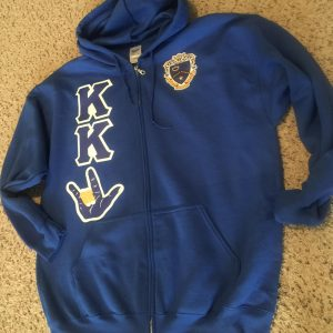 Kappa Kappa Psi Hand Sign/Royal Zipper Hoodie