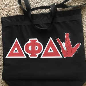 Delta Phi Delta Hand Sign Zipper Bag