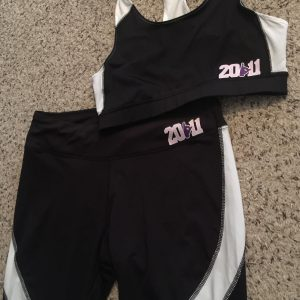 Kappa Epsilon Psi Glitter Sports top and bottom set